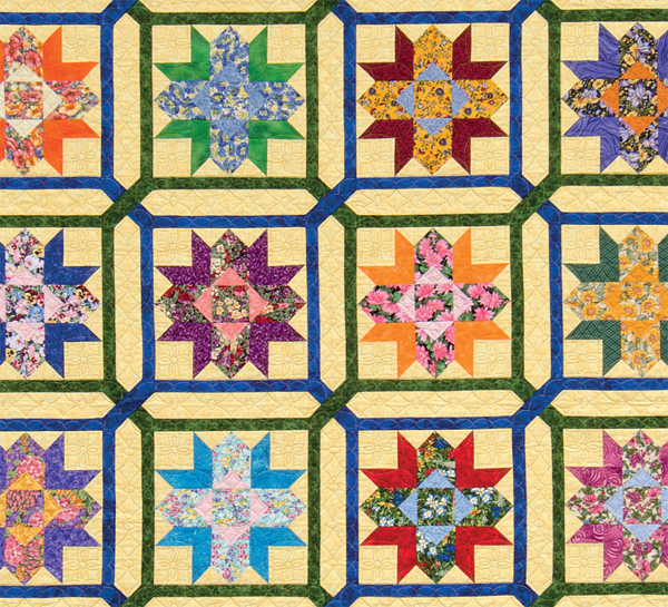 Scrap quilting secrets for bed quilts stitch this the martingale blog detail of laurel wreath and garden maze quilt fandeluxe Gallery