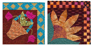 Examples of pieced quilt borders