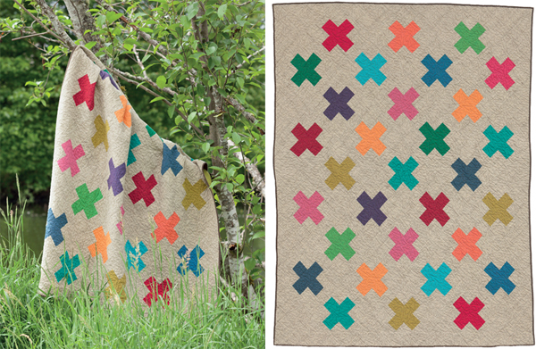 Modern Cross-Stitch quilt