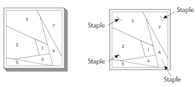 Staple foundation papers together