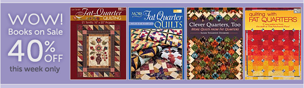 WOW! 40% off fat-quarter books