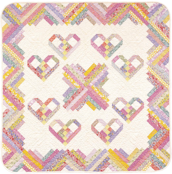 Heartstrings quilt from Log Cabin Fever