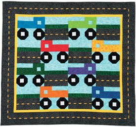 Training Wheels baby quilt
