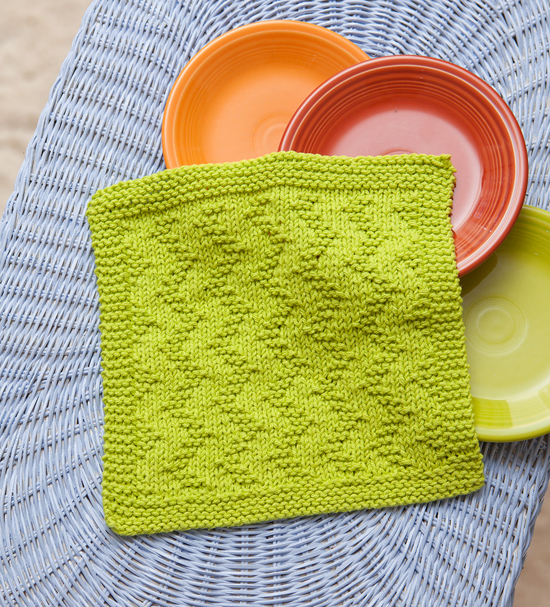 Zig Zag free dishcloth pattern