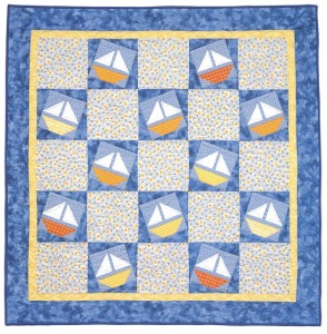 Sunny Sailors baby quilt