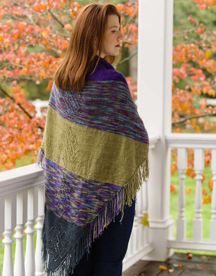 Cherry Tree Hill Folk Shawl by Cheryl Potter