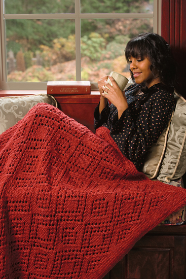 Filigree Diamonds Afghan