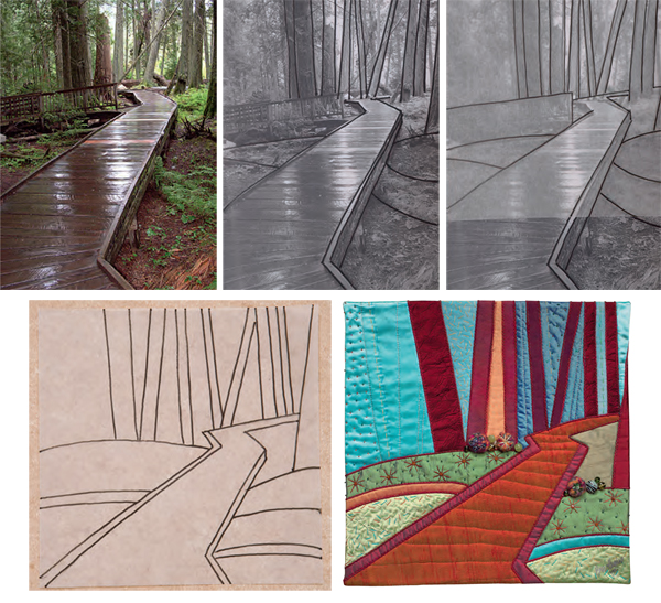 From photo to quilt--Dream Landscapes