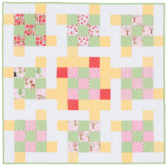 Ice-Cream Swirl quilt