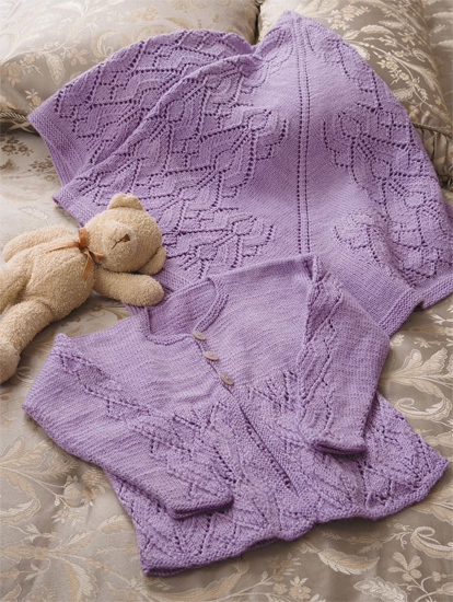 Toddler Cardigan and Blanket by Debbie O'Neill