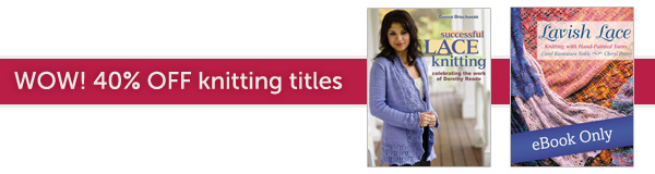 Wow! 40% off select knitting books