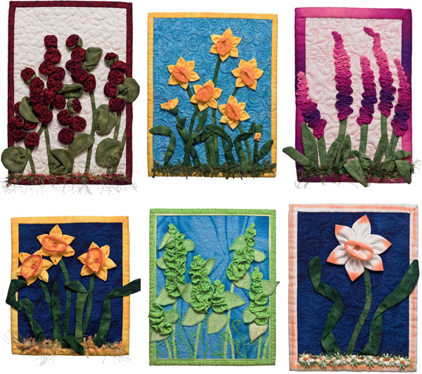 Mini Quilts from More Fabulous Flowers