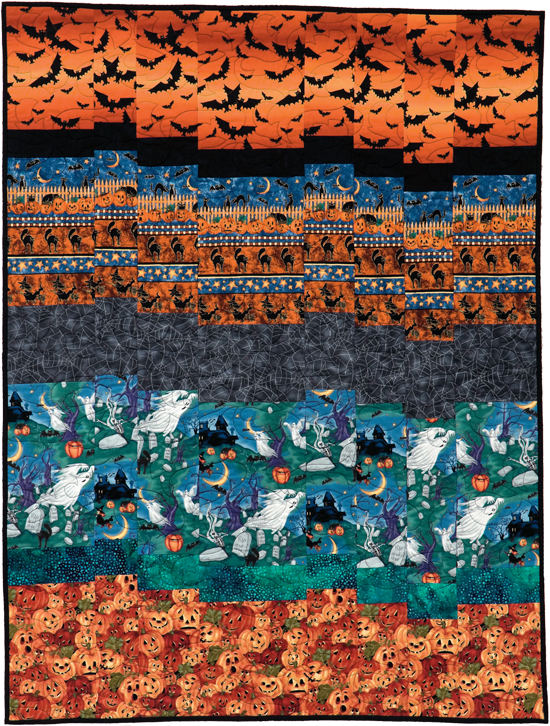 Ghosts in the Graveyard bargello quilt
