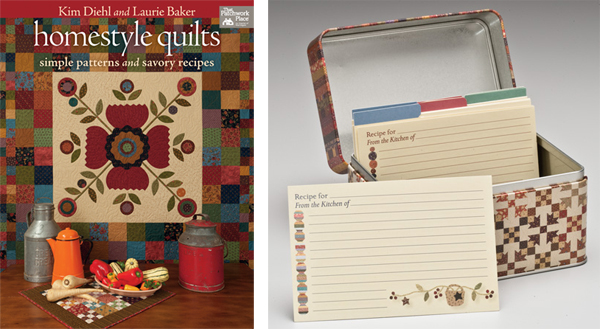 Homestyle Quilts and Recipe Tin