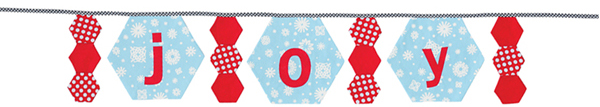 Joy banner from Hexagons Made Easy