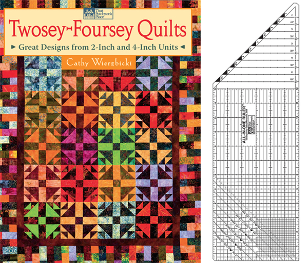Twosey-Foursey Quilts and the All-in-One Ruler