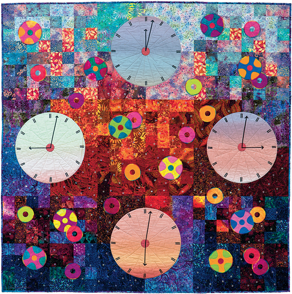 Clockworks circle quilt