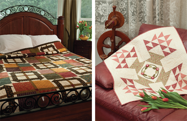 Easy Peasy and Bygone Baskets quilts