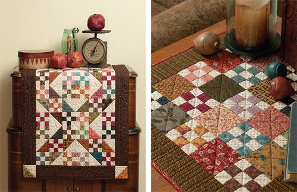 Farmhouse Furrows and Mini Nine Patch quilts