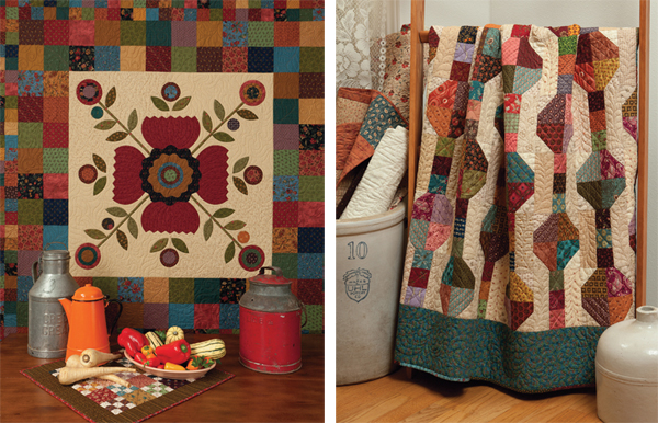 Four Patch Potpourri and Plain Jane quilts