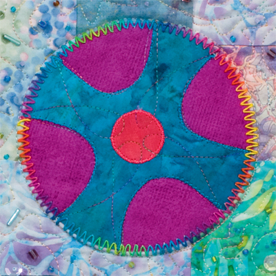 Quilt circles using fusible applique