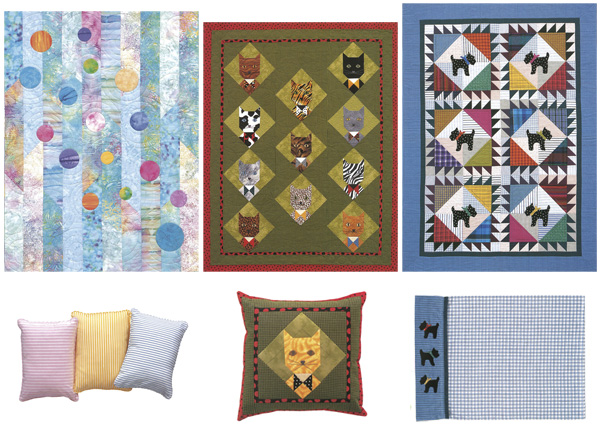 Quilts and pillows from Polka-Dot Kids' Quilts