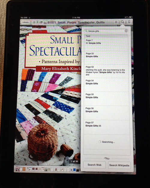eBook search--Small Pieces Spectacular Quilts