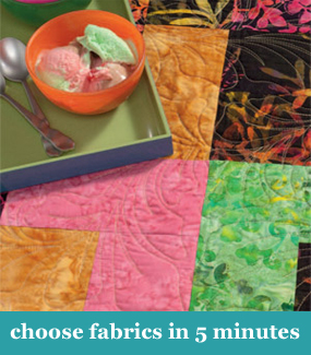 How to choose quilt fabrics in 5 minutes