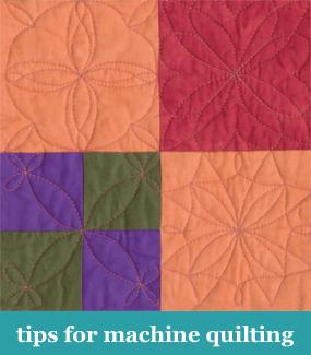 Tips for machine quilting