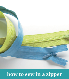 How to sew in a zipper