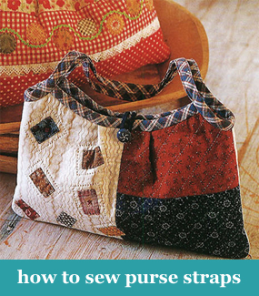 How to sew purse straps