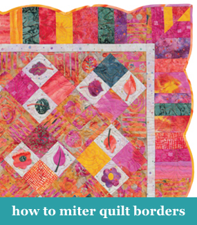 How to miter quilt borders