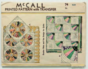 1930s McCall  Dresden Plate pattern from Fancy to Frugal