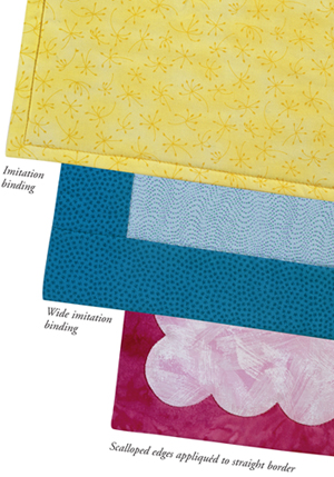 SO many ways!: finishing binding on quilts - Stitch This! The ... : applying quilt binding - Adamdwight.com