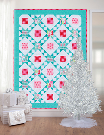 Funky Christmas quilt