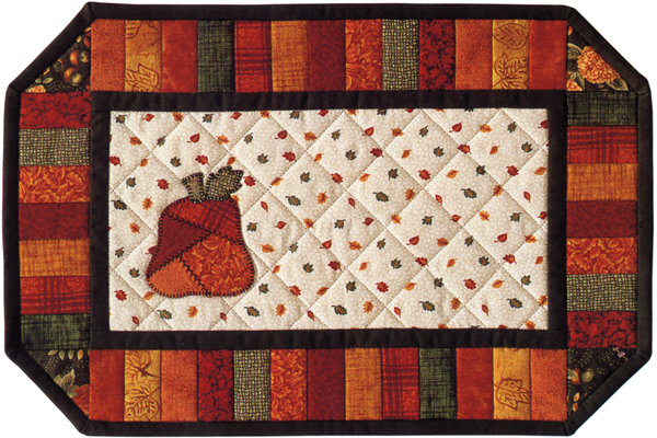 Patchwork Pumpkin Place Mats