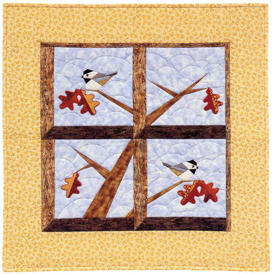Chickadees in the Window Wall Hanging