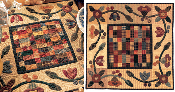 Five-Cent Fairy Garden quilt