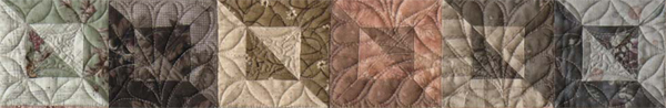 Detail of Taupe Buttons quilt