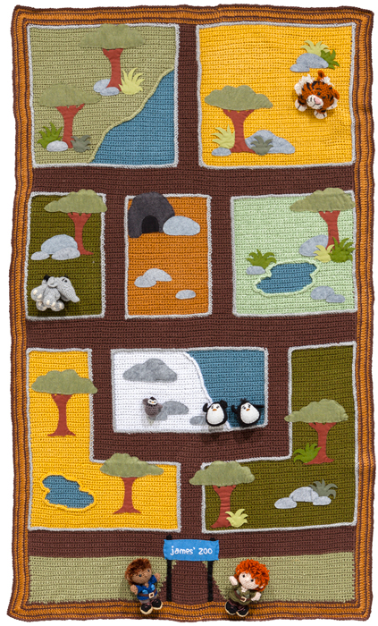Free crochet playmat pattern from Crochet a Zoo