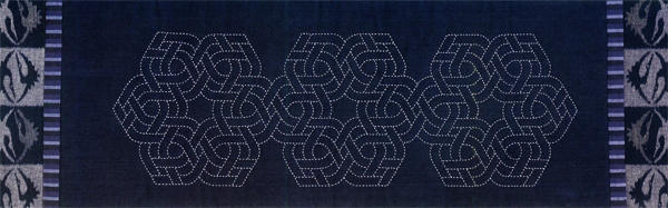 Linked Shapes Sashiko Panel