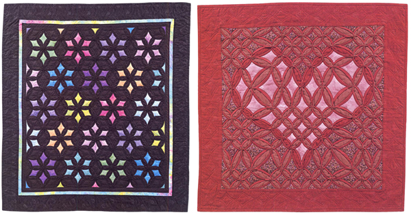 Machine-Stitched Cathedral Windows quilts