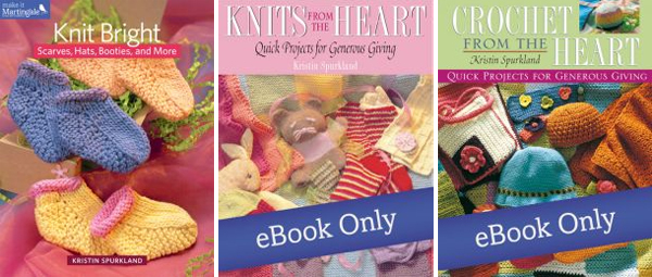 Pattern books for charity knitting and crochet