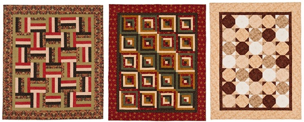 Quilts for men from 5 fabrics 1