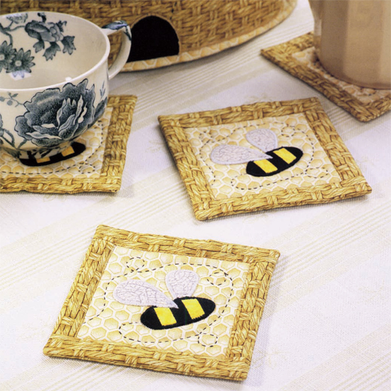 Busy Bee Mug Rugs