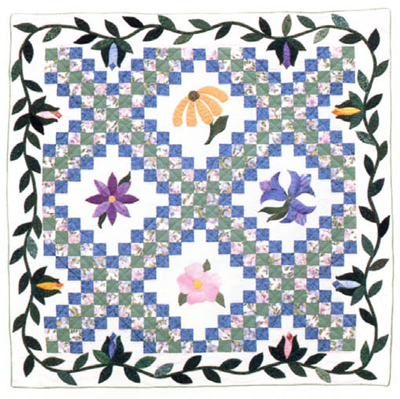 Through the Trellis Garden Again by Joanne Traise, featured in Borders by Design