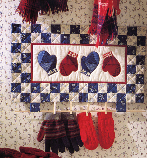 Patchwork Mittens Mitten Dryer