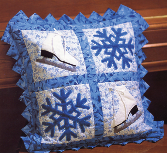 Skates and Flakes Pillow Sham