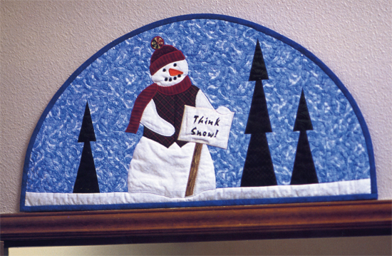 Think Snow Door Topper