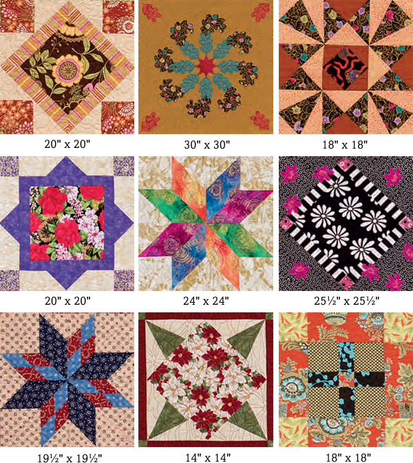 Quilt blocks from Supersize 'Em